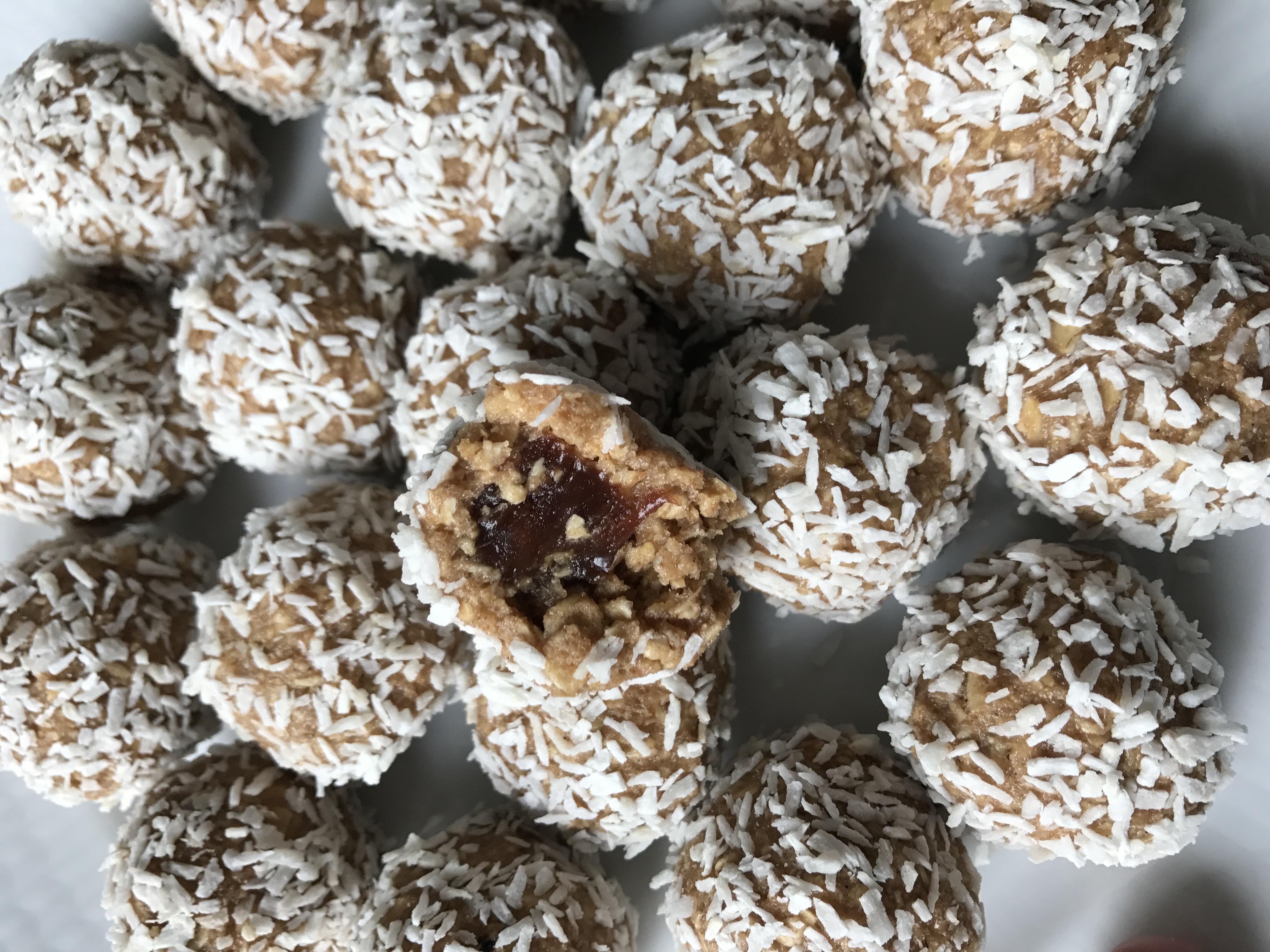 havrebollar utan kakao
